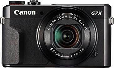 Canon PowerShot G7 X Mark II (Black) (Renewed)