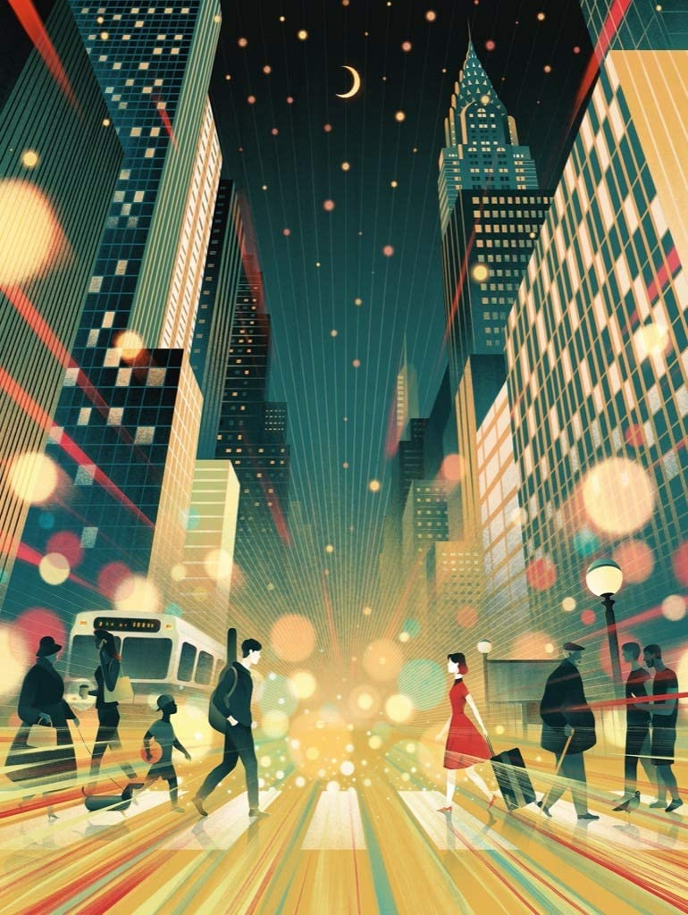 New York Puzzle Company Max 79% OFF - Transit Posters 100 Albuquerque Mall Moonlight Moment