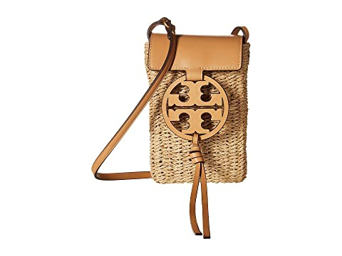 d69531c88 Tory Burch Miller Straw Phone Crossbody at Zappos.com