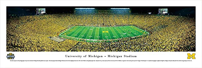 Michigan Football - Under The Lights - 50 Yard - Blakeway Panoramas College Sports Posters