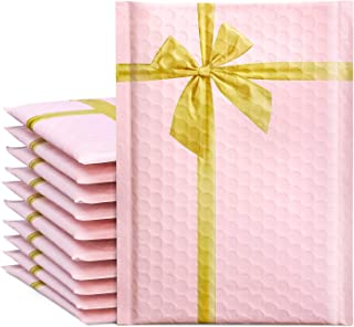 """Fuxury/ Fu Global #0 6x10"""" 25PCs Gift Poly Bubble Mailers, Designer High-Grade Pearlescent Pink Self Seal Mailing Padded E..."""