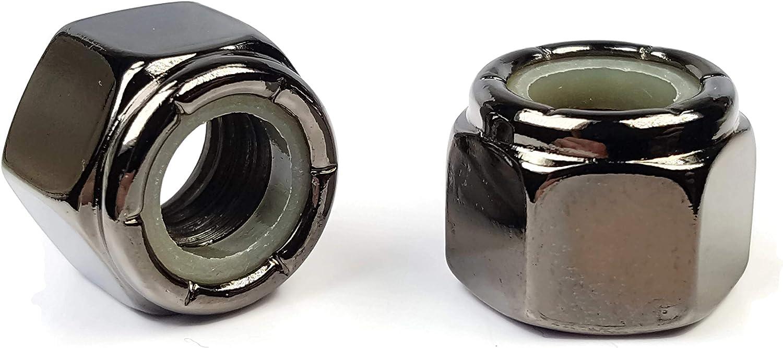 Black Chrome Nylon Insert Lock Nuts Denver Mall Nylock Select Made - Be super welcome USA Siz
