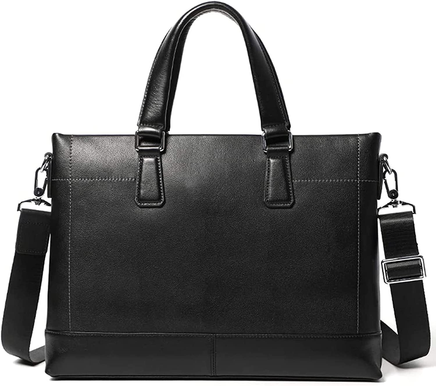 ALISALQ Business Men Briefcase Genuine Bag Los Angeles Mall Real L Laptop Las Vegas Mall Leather