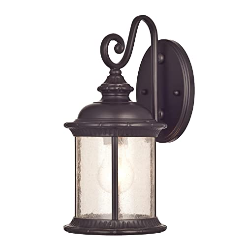 Westinghouse 6230600 New Haven One-Light Exterior Wall Lantern on Steel with Clear Seeded Glass