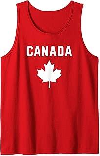 I Love Canada Minimalist Canadian Flag Tank Top