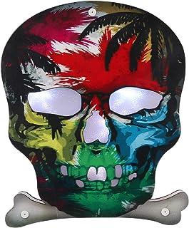 KESYOO Halloween Skull Shaped LED Night Light Halloween Bedside Lamp Desktop Light Halloween Party Adornment (Pattern B)
