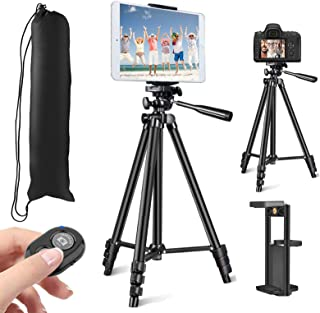 "MOREVON Tripod for ipad, [2020 Upgrade] 53"" Tripod for iPhone Camera Tablet, Lightweight Aluminum Tripod Stand with Remote..."
