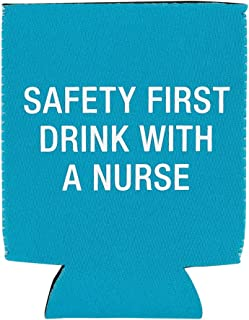 About Face Designs 122882 Nurse Drink Koozie One Size teal