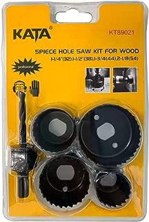 KATA 5pcs Hole Saw Kit,Hole Saw Dril Bit Set for Wood,Plastic,PVC and Drywall
