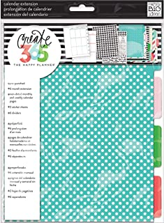 me & my BIG ideas The Happy Planner 6 Month Calendar Extension, Sunshine - Pre-Punched Planner Extension - Undated Daily, Monthly & Weekly Calendar Pages - Decorative Stickers & Dividers - Mini Size