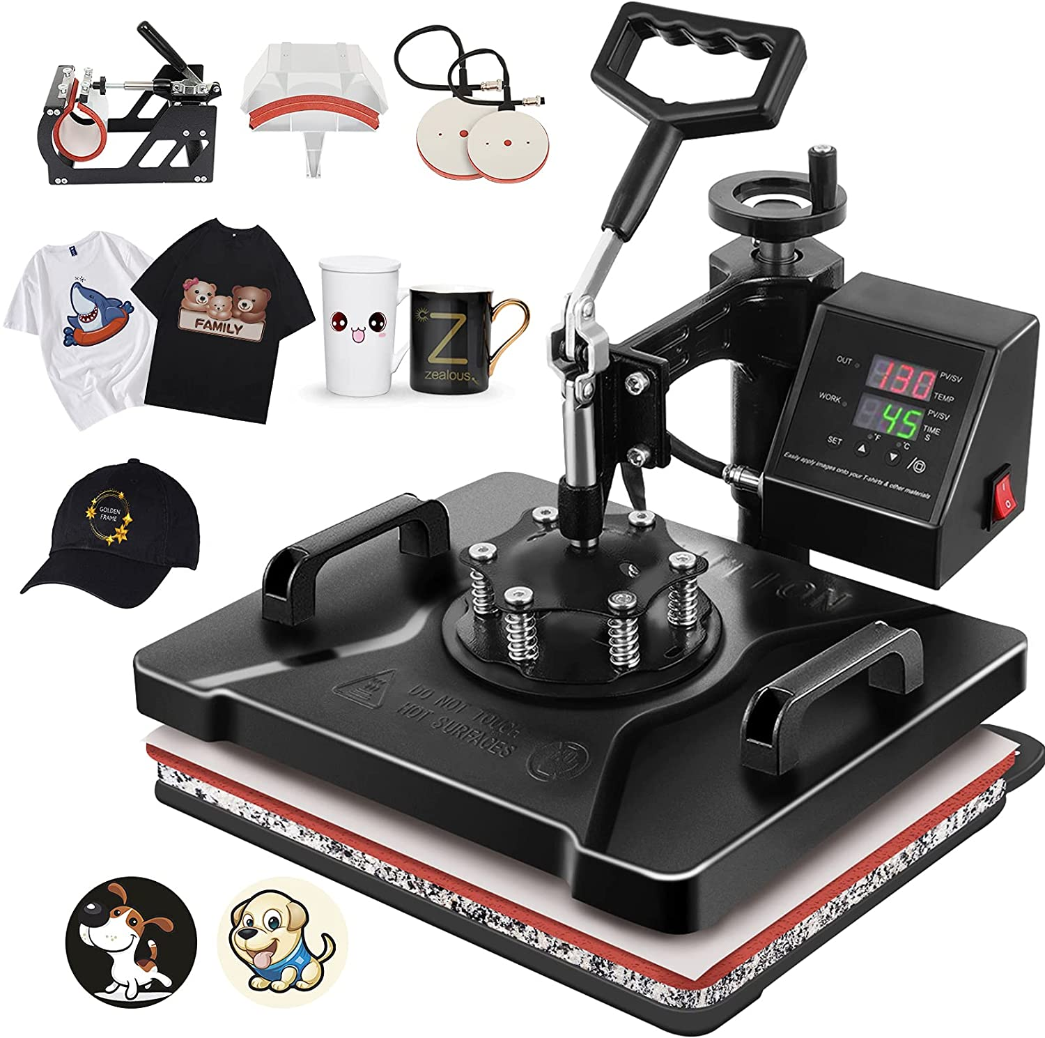 Tolsous 12 X15 5 in 1 Heat Machine Press Degree Swivel 360 Multi At the price of surprise Max 56% OFF