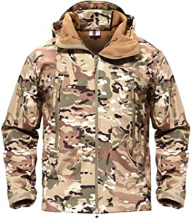 Shark SkinMilitary Jacket Men Softshell Waterproof Camo Clothes Tactical Hoody,CP,XL,United States