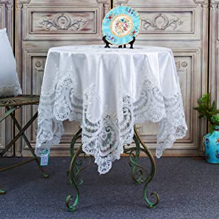 ARTABLE Rectangular Table Cloth Luxury Embroidery Lace Indoor Outdoor Decoration Party Dinner Wedding Holiday Luxurious Of...