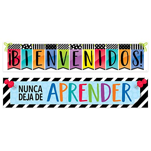 Creative Teaching Press Bold and Bright Bienvenidos! Spanish Banner, 2 Sided, CTP (
