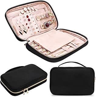M&J Travel Jewelry Storage Cases Jewelry Organizer Bag for Necklace, Earrings, Rings, Bracelet
