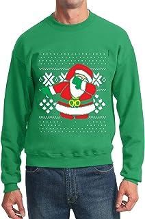 レディース クリスマススウェットシャツ醜い3 Dプリントダビングサンタプルオーバー