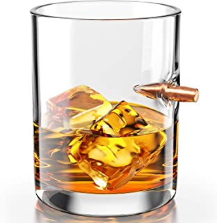 308 real bullet hand blown whiskey glass
