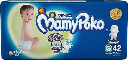 Fralda Fita MamyPoko tamanho G, pacote contendo 42 unidades