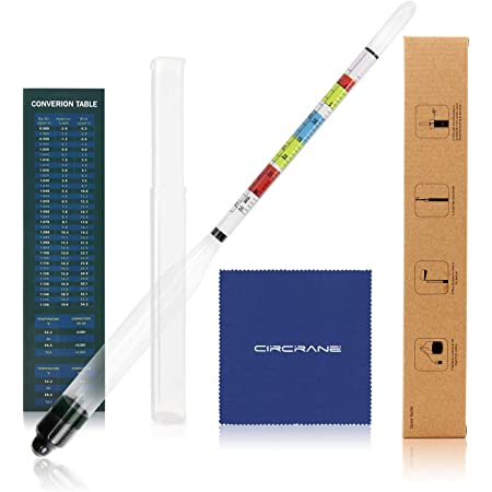 Circrane Triple Scale Hydrometer Kit, Alcohol Hydrometer for Brew Beer, Wine, Mead and Kombucha, ABV, Brix and Gravity Test Kit, Home Brewing Supplies