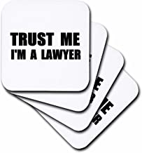 3dRose cst_195611_2 Trust Me I'm A Lawyer Fun Law Humor Funny Job Work of face Gift Soft Coasters (مجموعة من 8)