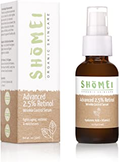 Best Organic Retinol Serum | Maximum Strength 2.5% retinol | 72% ORGANIC | Intensive Wrinkle-Repair, Anti-Aging Serum - Corrective + Restorative | Plant Based, Paraben Free, Cruelty Free, No GMO's