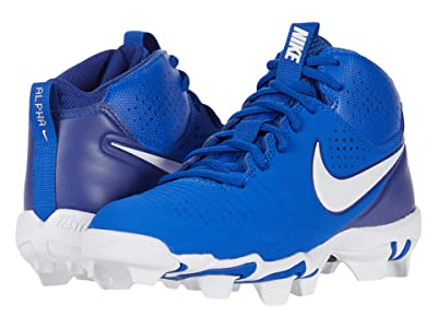 Nike Kids Alpha Huarache 3 Keystone BG Baseball (Toddler/Little Kid/Big Kid) (Game Royal/White/Deep Royal Blue) Kid