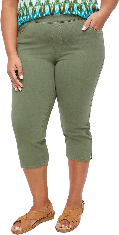 Catherines Women's Plus Size Petite The Knit Jean Capri