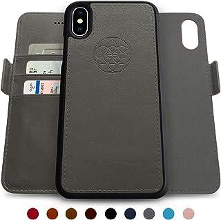 Dreem Fibonacci 2-in-1 Wallet-Case for iPhone X & Xs, Magnetic Detachable Shock-Proof TPU Slim-Case, Wireless Charging OK,...