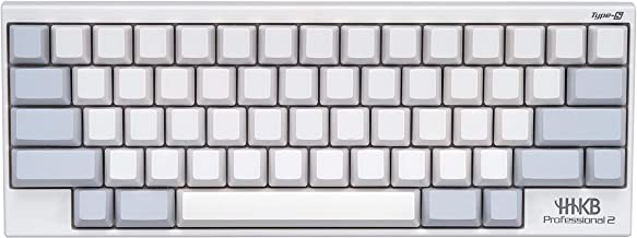 Happy Hacking Keyboard Professional Type-S (Compact, White, 45G, Blank Keycaps, Silent)