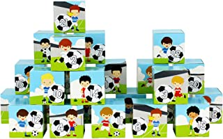 Papierdrachen DIY Advent Calendar Set - Football - 24 Printed Cardboard Boxes for Making and Filling