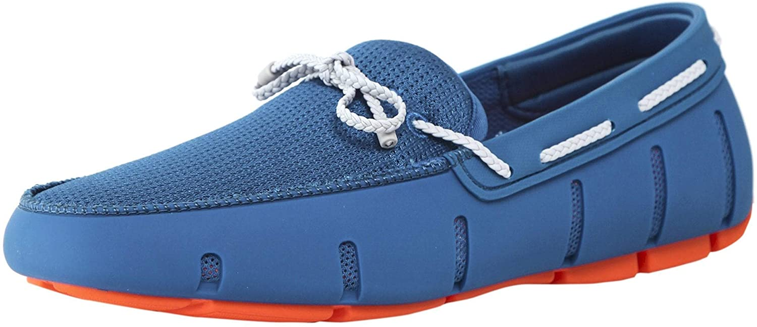 Swims Men's Braided Lace Loafers bluee