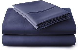 J&S Housewares 600TC Long Staple Cotton, Queen, Navy