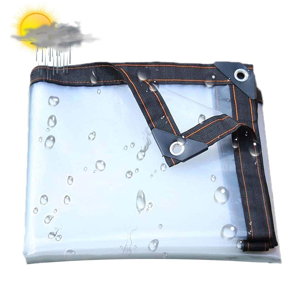 母ごみ胃透明な透明な防水シートヘビーデューティー防水グロメット5ミル、厚防水、耐紫外線、腐敗、裂け目、裂けにくいグロメットと補強エッジ付きターポリン