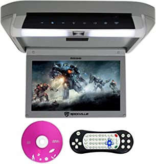 "Rockville RVD10HD-GR 10.1"" Flip Down Monitor DVD Player, HDMI, USB, Games, LED (RVD10HD-GR v2)"