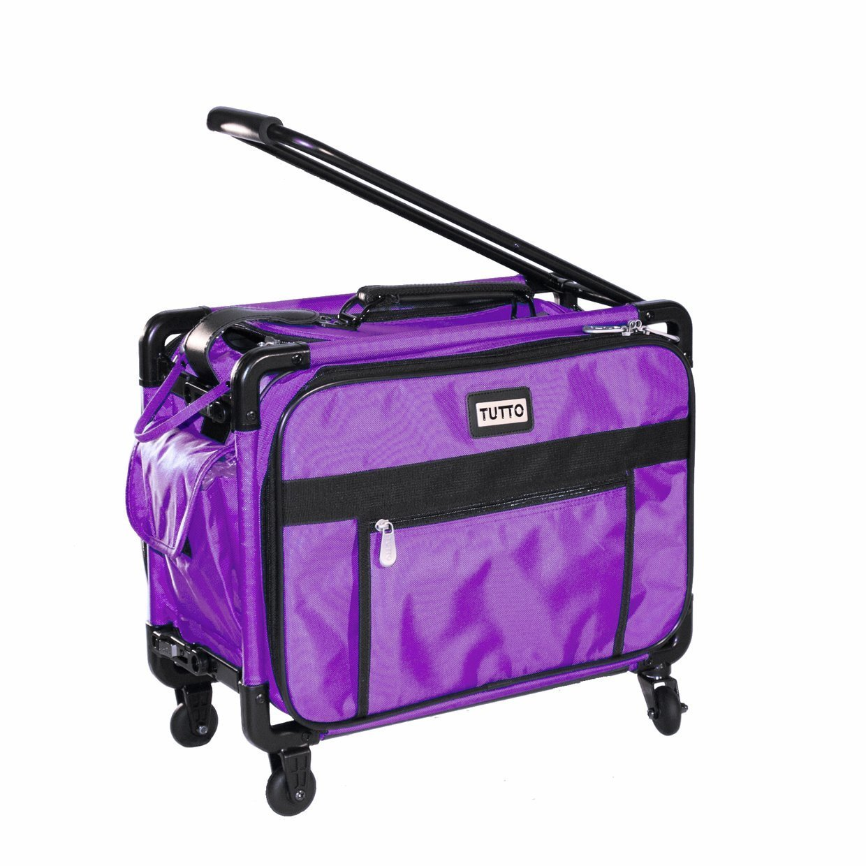 """Tutto Small Machine On Wheels 17"""" Purple Small Carry-On Size"""
