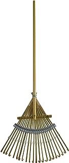 Flexrake CFP18 18-Inch Bamboo Rake with 48-Inch Wood Handle