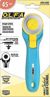 OLFA RTY-2/C 45mm Splash Rotary Cutter,Aqua