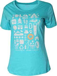 Columbia Women's Lookout Ridge Short Sleeve Tee Top Shirt