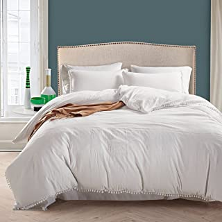 Luxury Quality 100% Natural Stone Washed Microfiber Duvet Cover Set King Size 3 Pcs (1 Duvet cover, 2 Pillowcases) Ball Fr...