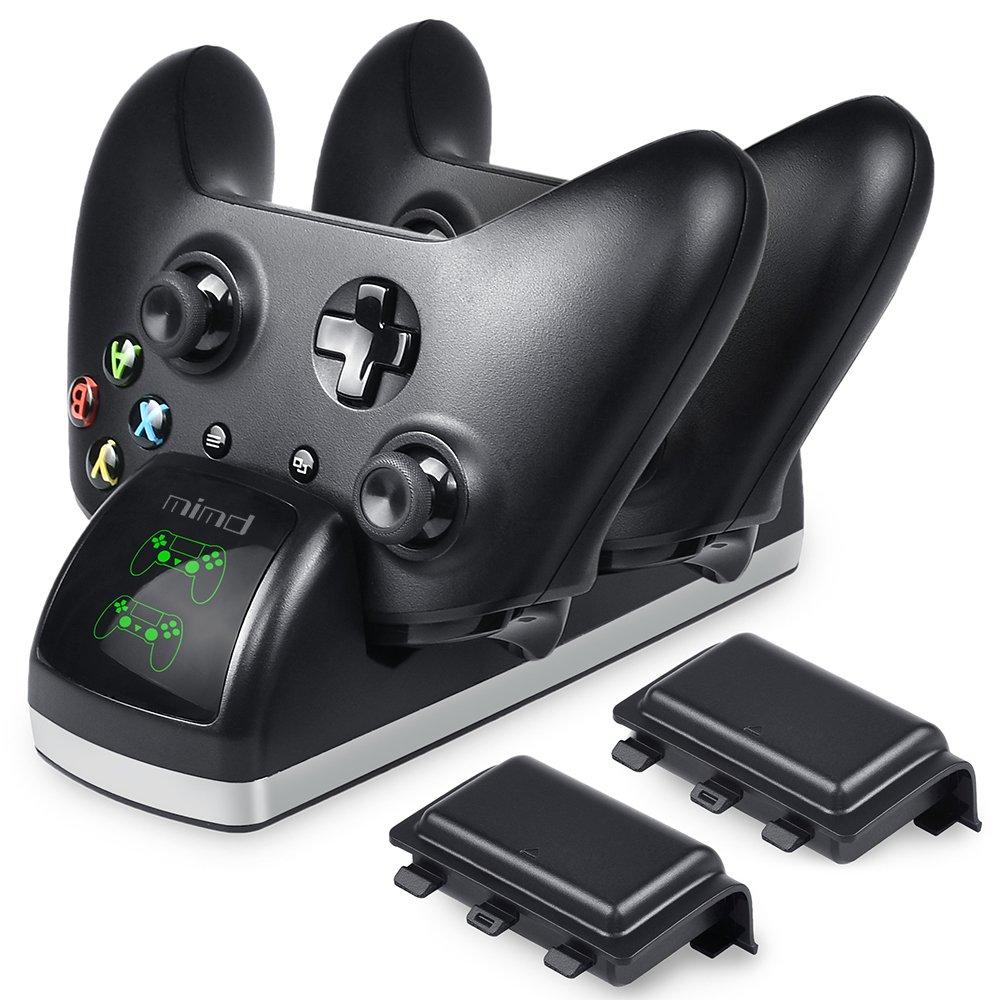 BEBONCOOL - Cargador de mando para Xbox One y One S (2 paquetes de baterías recargables de 600 mAh, no compatible con Xbox Elite Game Controller): Amazon.es: Informática