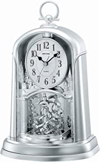 Rhythm 4Sg713Wr19 Contemporary Motion Clock, Silver