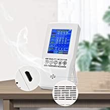 InLoveArts Luchtkwaliteit Monitor Oplaadbare PM2.5 PM10 CO2 Formaldehyde (HCHO) TVOC AQI Detector Multifunctionele Luchtkw...