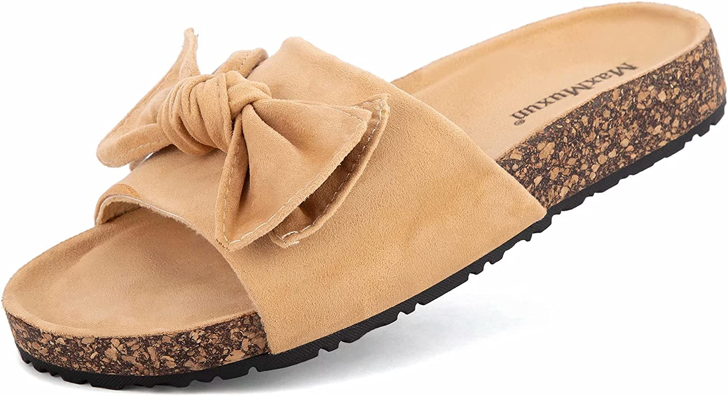 MaxMuxun Women's Slides Sandals Super beauty product restock quality top Bowknot Beach Comfort Cor Casual supreme