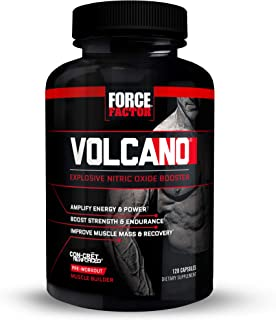 Volcano Pre Workout Nitric Oxide Booster Supplement for Men with Creatine and L-Citrulline to Boost Nitric Oxide and Energ...