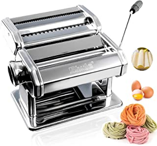 Shule Pasta Maker Stainless Steel Pasta Machine Includes Pasta Roller, Pasta Cutter, Hand Crank and Detailed Instructions...