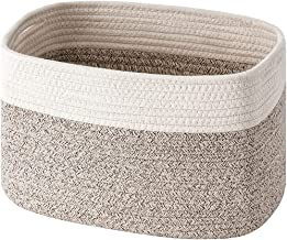 UBBCARE Cotton Rope Storage Baskets Bin Storage Cube Organizer Foldable Decorative Woven Basket with Handles for Clothes, ...