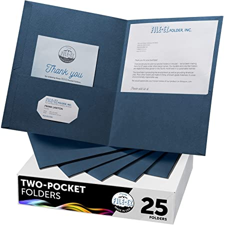 Oxford Twin-pocket Folders Textured Paper Letter Size Dark Blue 57538EE for sale online
