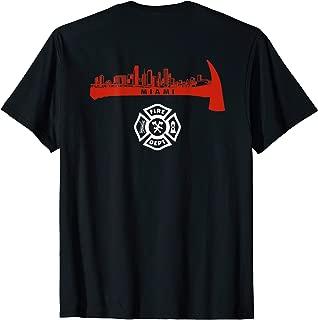 Miami Florida Fire Rescue Department Firefighters Firemen T-Shirt