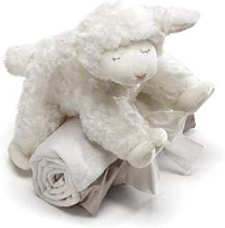 Baby GUND Winky Lamb with White Blanket, Stuffed Plush Set of 2, 7