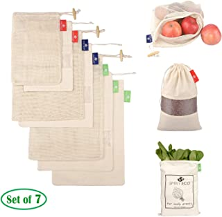 SIMPLY ECO 7 Cotton Reusable produce bags
